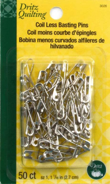 Coil Less Basting Pins-50 ct