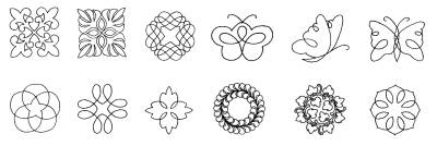 Continuous Line Block Designs Digitized for Embroidery