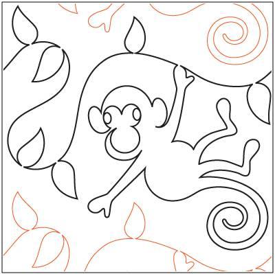 Monkey Jungle Paper Pantograph 10 Quot