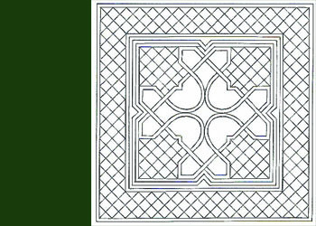 Celtic Miniature Preprinted- Dark Green 16.5