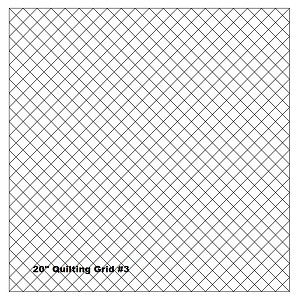 "Quilting With Grids-Preprinted Panel- 1"" Diagonal"