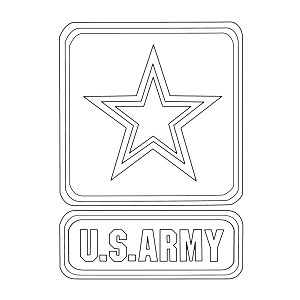 "Modern Army Preprinted Wholecloth 9""x12"" [white]"