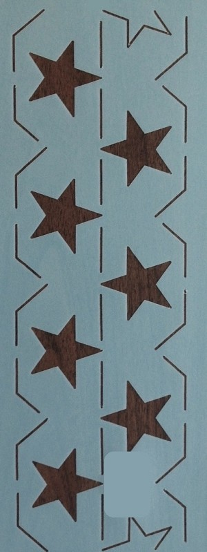 Continuous Star Border 4.5""