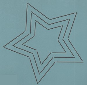 Five Pointed Star 9""
