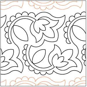 Henna Flowers Paper Pantograph 9.25""