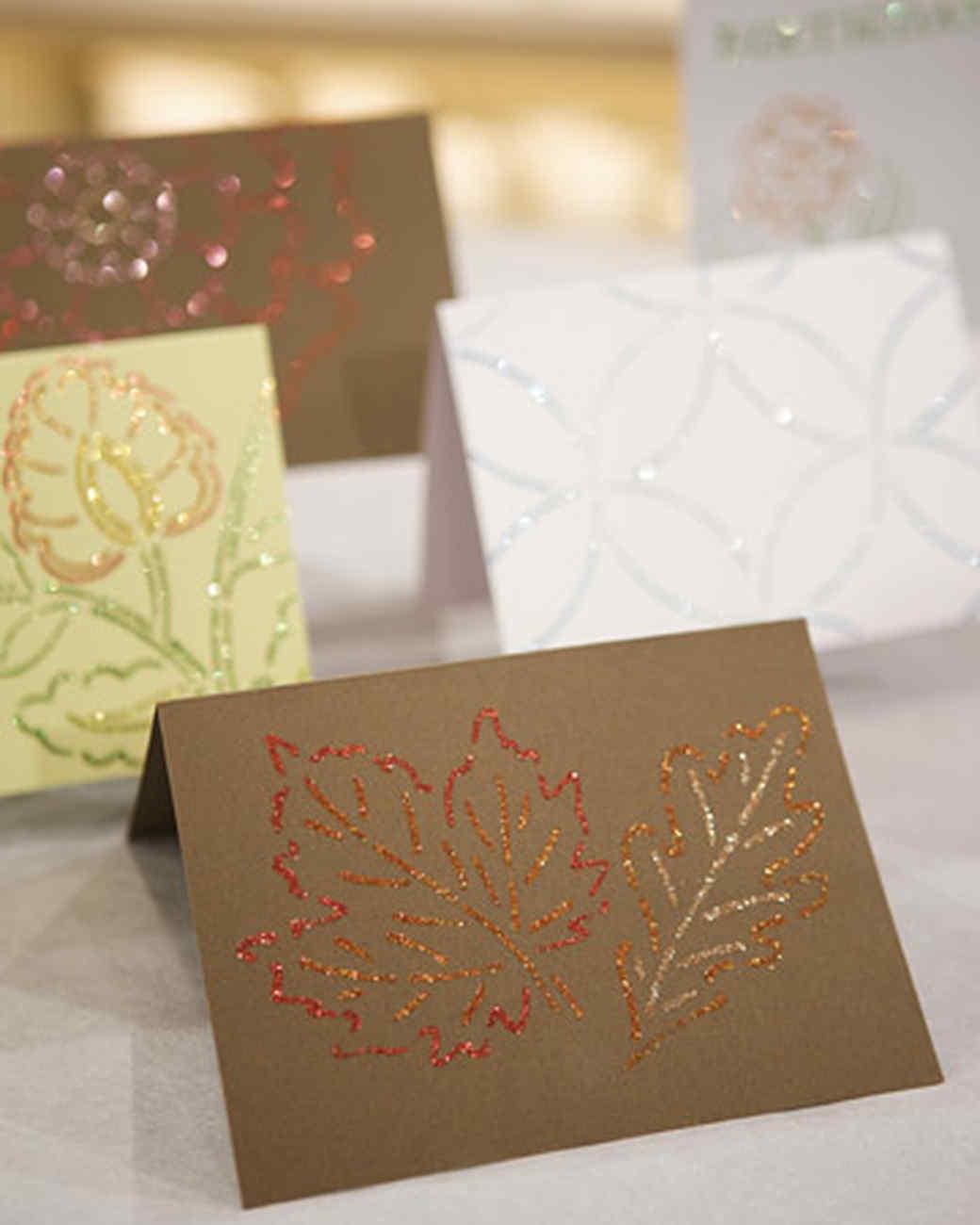 поделка открытка с блестками