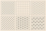 Sashiko Sampler- Natural [12'' x 12'' ea]
