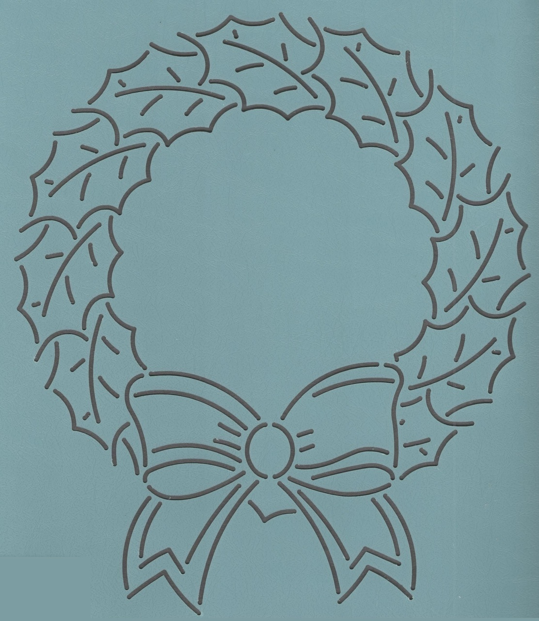 Holly Wreath 9''