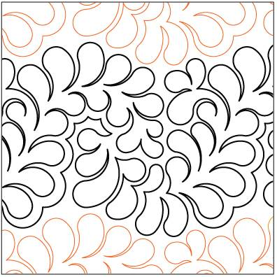 Bountiful Feathers Paper Pantograph 13.25