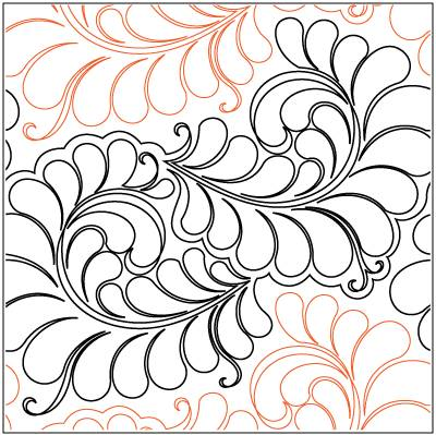 Curly Feathers Paper Pantograph 16''