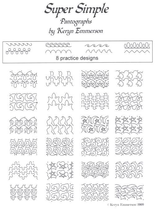 super simple pantograph pattern pack