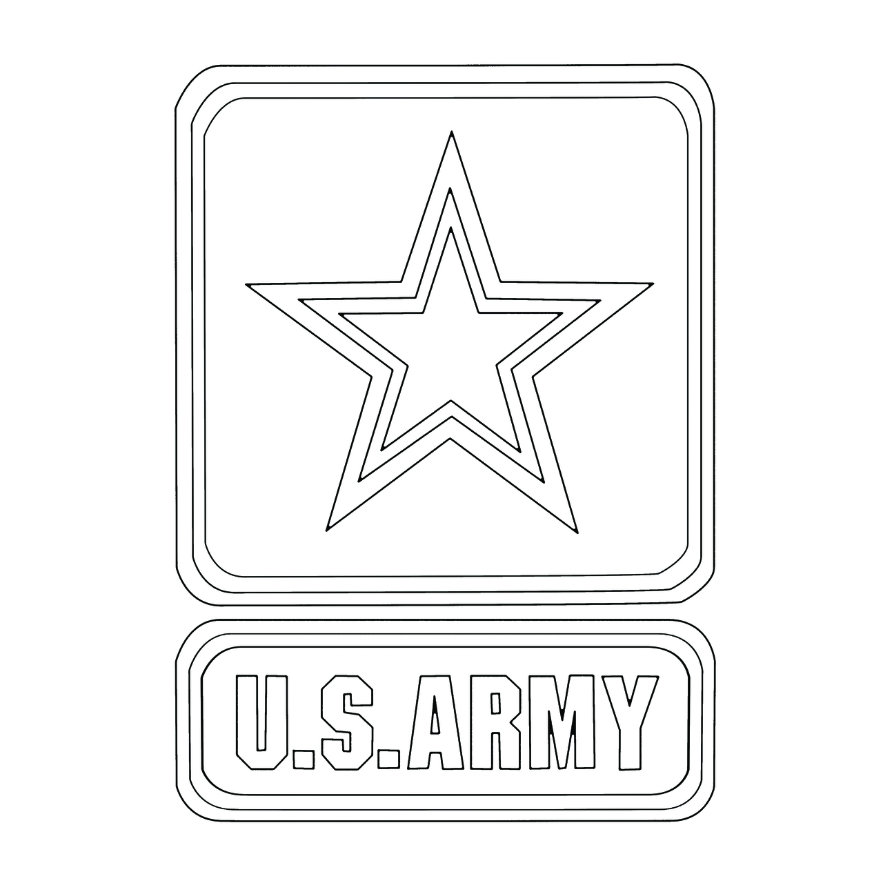 Modern Army Preprinted Wholecloth 9''x12'' [white]
