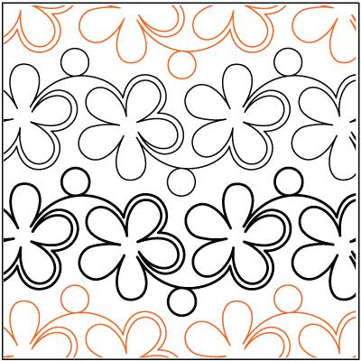 Daisies and Dots Paper Pantograph 5.25''