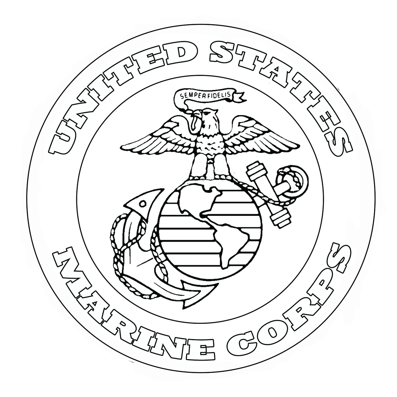 Marine Corp Preprinted Wholecloth 12