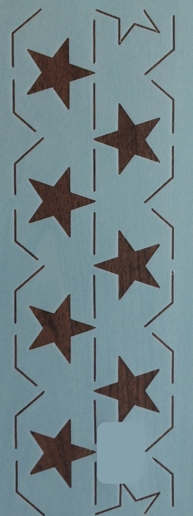 Continuous Star Border 4.5''