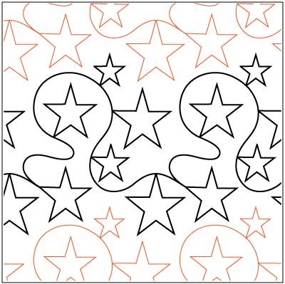 Simply Stars Paper Pantograph 12''