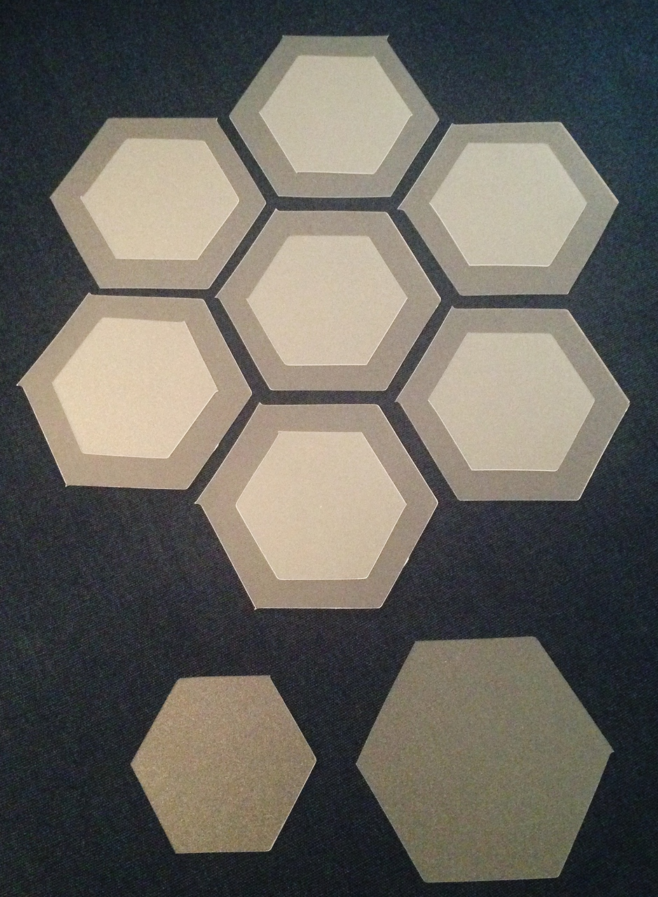 No-Melt Applique Shapes- 1'' Hexies [3/4'' Finished]  (50 ct)