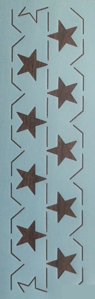 Continuous Star Border 3.5''