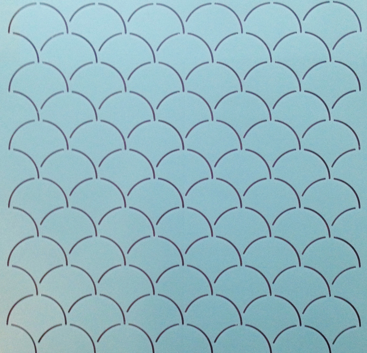 Clam Shell Background 12'' [2'' x 2'' Design]