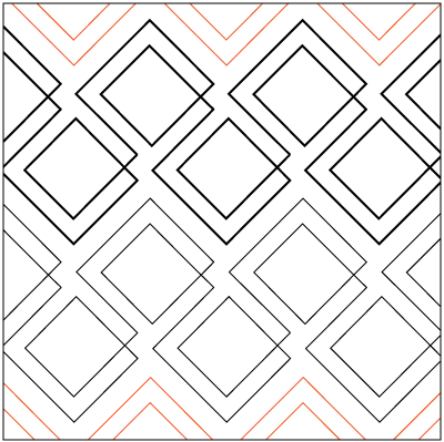 Diagonal Plaid Paper Pantograph 7.25
