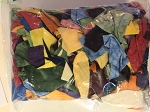 Batik Scrap Bag- 1lb 8oz- Bright Tones - Large Bag
