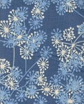 Blue Dandelions- Fat Quarter Cut