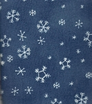 Dk Blue Snow- Fat Quarter Cut