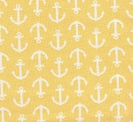Yellow Anchors- Fat Quarter Cut
