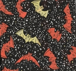 Bats at Night- Fat Quarter Cut