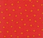 Pete's Red Stars- Fat Quarter Cut