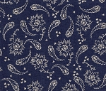 Navy Paisley Swirl- Fat Quarter Cut