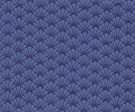 Purple Blue Scallops- Fat Quarter Cut