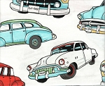Classic Cars- Fat Quarter Cut