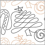 Christmas Doodle Full Paper Pantograph 10