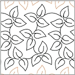 Meandering Jasmine Paper Pantograph 11''