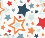 Orange Stars- Fat Quarter Cut