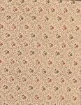 Tan Floral- Half Yard Cut