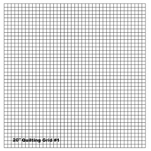 "Quilting With Grids-Preprinted Panel- 1/2"" Horizontal"
