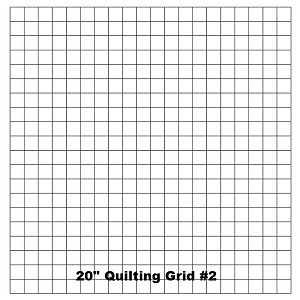 "Quilting With Grids-Preprinted Panel- 1"" Horizontal"
