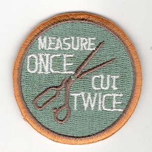 "Quilt Patches 2""- Iron on-Measure Once Cut Twice"