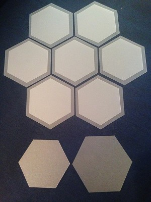 "No-Melt Applique Shapes- 2"" Hexies (1 3/4"" Finished) (50 ct)"
