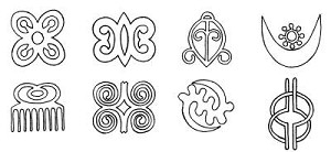 Adinkra Symbols Digitized for Embroidery