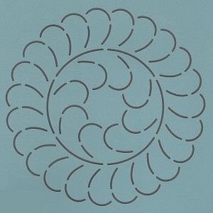 Feather Wreath 9""