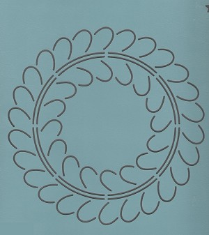Feather Wreath #2  9""